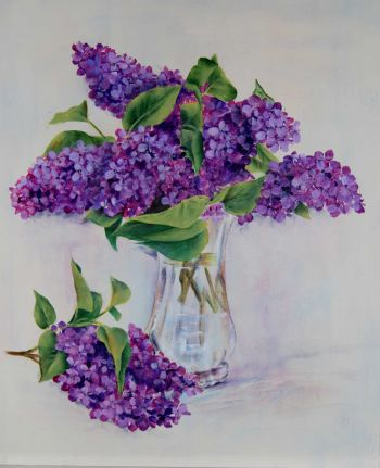 Lilacs In Glass