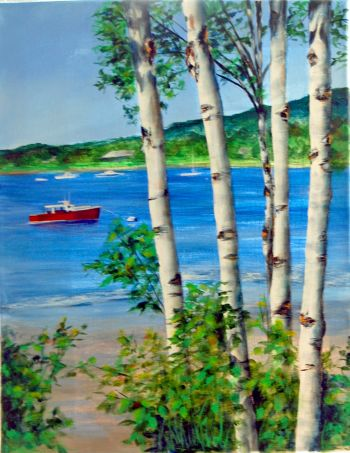Birches On The Bay