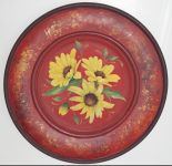 Earthtones in Red Susans Plate