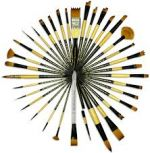 Black Gold Brushes