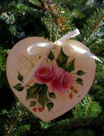 Christmas Rose Heart