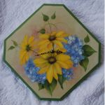 Daisy and Hydrangea Clock E-Packet